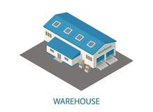 De driedimensionele pakhuisbouw Royalty-vrije Stock Foto