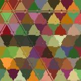 De driehoek knarst kleurrijk mozaïek ononderbroken patroon vector illustratie