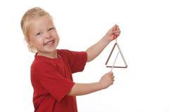 De driehoek van meisjesspelen royalty-vrije stock afbeelding