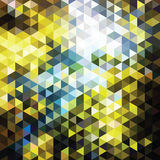 De driehoeken van het kleurenmozaïek Stock Foto