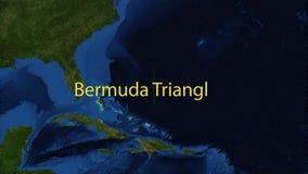 De Driehoeksnavigatie van de Bermudas stock footage