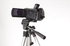 De driepoot van Handycam royalty-vrije stock afbeeldingen