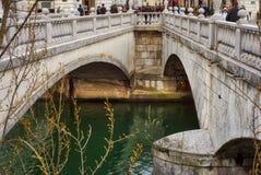 De drievoudige brug van Ljubljana Royalty-vrije Stock Foto's