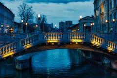 De drievoudige brug van Ljubljana Royalty-vrije Stock Afbeelding