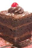 De drievoudige Cake van de Chocolade van de Laag Stock Foto's