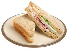 De Drievoudige Sandwich van de kip & van het Bacon Royalty-vrije Stock Foto's