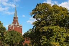 De Drievuldigheids (Troitskaya) Toren, het Kremlin stock foto