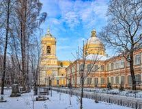 De Drievuldigheidskathedraal van Alexander Nevsky-lavra Stock Foto