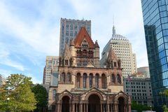 De Drievuldigheidskerk van Boston, de V Stock Afbeeldingen