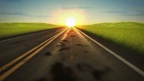 De drijflijn van de zonsondergangweg stock videobeelden