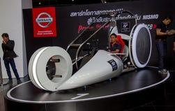 De drijfsimulator van Nissan Nismo in Motorshow stock foto