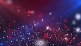 De drijvende Glanzende Achtergrond van de Sterren Rode en Blauwe Van een lus voorziende Motie stock videobeelden