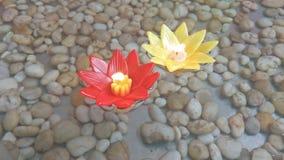 De Drijvende Kaars van de bloemvorm Royalty-vrije Stock Fotografie