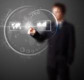 De dringende hoogte van de mens - technologietype van moderne knopen Stock Afbeelding