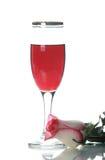 De drinkbeker met wijn en nam toe Royalty-vrije Stock Foto's