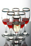De drinkbekers van de wijn Stock Afbeeldingen