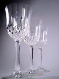 De drinkbekers van het kristal Royalty-vrije Stock Afbeeldingen
