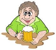 De drinker van het bier Stock Afbeeldingen