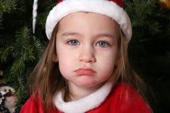 De droevige Baby van de Kerstman #1 royalty-vrije stock foto