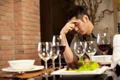 De droevige Datum van het Diner Royalty-vrije Stock Fotografie
