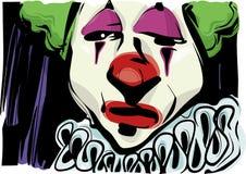 De droevige illustratie van de clowntekening Stock Foto's