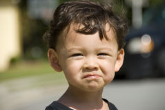 De droevige Jongen van de Baby Stock Afbeelding