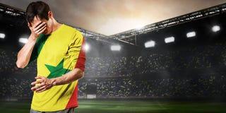 De droevige speler van Senegal stock afbeeldingen