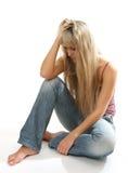 De droevige vrouw Stock Fotografie