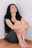 De droevige vrouw Stock Afbeeldingen