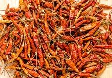 De droge achtergrond van de Spaanse peperpeper Thais voedselkruiden stock afbeeldingen