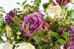 De droge bloemen Dode roze nam toe Sluit omhoog Stock Foto