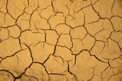 De droge gebarsten achtergrond van de de grondtextuur van de aardegrond Stock Foto