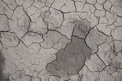 De droge gebarsten achtergrond van de de grondtextuur van de aardegrond Royalty-vrije Stock Foto