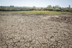 De droge grond van de barst De erosieconcept van de grond royalty-vrije stock afbeeldingen