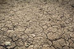 De droge grond van de barst De erosieconcept van de grond royalty-vrije stock foto's