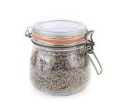 De droge lavendel bloeit in een glaskruik Royalty-vrije Stock Foto