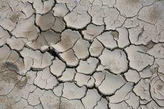 De droge modder van barsten Stock Foto's