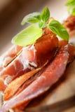 De droge salami van de varkensvleeskraag royalty-vrije stock foto
