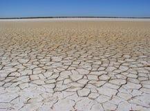 De droge structuur van de grondwoestijn Stock Afbeelding