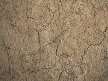 De droge textuur van grondbarsten Stock Foto's