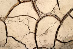 De droge textuur van modderbarsten stock fotografie