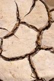 De droge textuur van modderbarsten royalty-vrije stock foto