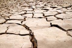 De droge textuur van modderbarsten stock afbeelding