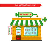 De drogisterijbouw Stock Fotografie