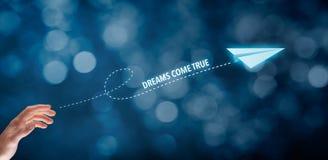 De dromen komen Waar stock afbeeldingen