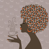 De dromen van de koffie - Afro-Amerikaanse vrouwen Royalty-vrije Stock Foto