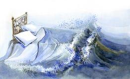 De dromen van de nacht royalty-vrije illustratie