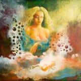 De dromen van de vrouw Royalty-vrije Stock Afbeeldingen