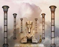 De dromen van Egyptenaren stock illustratie