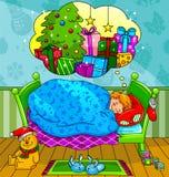 De dromen van Kerstmis Stock Foto
